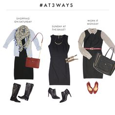 #AT3Ways The Little Black Dress. Our favorite ways to style your LBD for the daytime.
