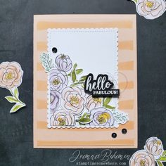 Stampin' Up! Best Dressed by Jeanna Bohanon Paper Pumpkin, Metallic Thread, Free Items, Floral Watercolor, Happy Friday, Your Cards, Nice Dresses, Stampin Up, Card Making