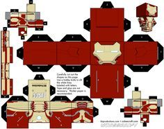 cubeecraft papercraft toys Iron Man