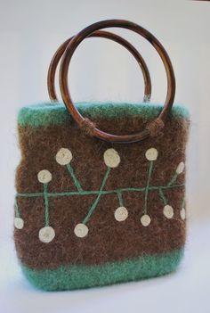 pretty bag, felted