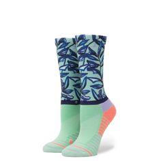 Stance Women/'s Precision Crew Athletic Socks Sz Small Mint Tree /& Elastane 2