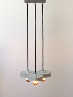 """Deckenlampen - Betonhängelampe """"FAVO tria"""" - ein Designerstück von Uniikat-Shop…"""