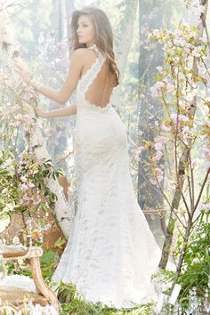 jim hjelm fall 2013 bridal alencon lace charmeuse modified a line bridal gown v halter neckline crystal style 8359