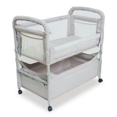 c44909218f Arm s Reach Clear-Vue Co-Sleeper With Deep Basket In Grey