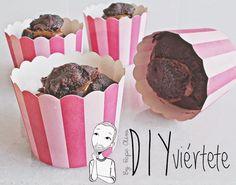Ricos, riquísimos: cupcakes de chocolate rellenos de dulce de leche