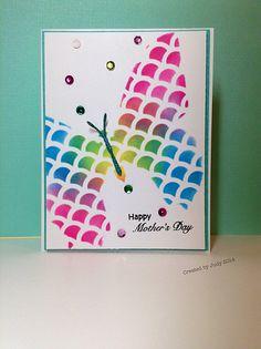 Butterfly using Heidi Swapp trio stencil set