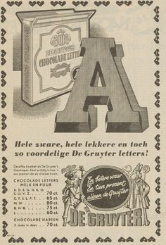 De Gruyter advertentie 1958