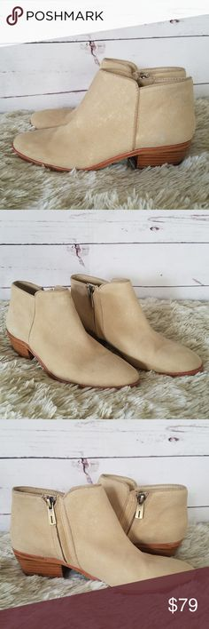 c0b696b49 Sam Edelman Petty Ankle Boots Beige Gold US 6M Sam Edelman Petty Ankle Boots  Beige Gold