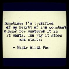 edgar allan poe quotes   edgar allan poe, sayings, quotes, heart, about yourself ...