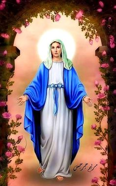 Blessed Mother Mary, Divine Mother, Blessed Virgin Mary, Jesus Mother, Pictures Of Jesus Christ, Religious Pictures, Mother Mary Pictures, Immaculée Conception, Jesus Christ Painting