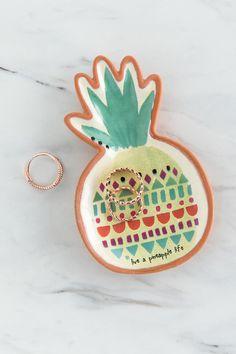 Pineapple Santa Fe Boxed Trinket Dish-  gift-cllifestyle