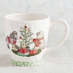 What could be better than admiring and shaking Christmas presents all day? How about an adorable mug featuring our exclusive Park Avenue Puppies™ filled with coffee or cocoa. The holiday just got better. Christmas Puppy, Christmas Mugs, 1st Christmas, Christmas Morning, Christmas Presents, Christmas Decorations, Xmas, Beach Cottage Decor, Find Furniture