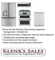 Klenku0027s Appliance.  GE Cafe Semi Commercial Kitchen Appliance Package. Free  Curbside Shipping