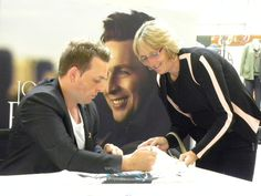 Johnny Reid...during a signing at Limeridge Mall in Ontario Canada
