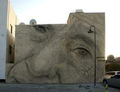 Streetart: Jorge Rodriguez-Gerada New Mural in Barcelona (+ Mural Bahrain   8 Pictures + Clip) > Design und so, Illustrationen, Paintings, Streetstyle, urban art > bahrein, mural, piece, Rodriguez-Gerada, spain, streetart