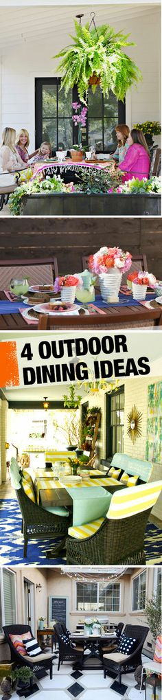 Check out these outdoor dining and patio decor ideas!