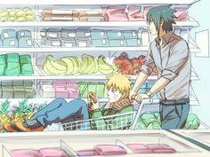 is cute :) credits to the respectful artist #sasunaru
