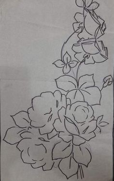 Wood Burning Tips, Task To Do, Coloring Pages, Colouring, Arte Popular, Fabric Painting, Paint Designs, Rose Patterns, Picture Ideas