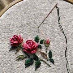 Getting to Know Brazilian Embroidery - Embroidery Patterns Brazilian Embroidery Stitches, Hand Embroidery Videos, Embroidery Flowers Pattern, Rose Embroidery, Hand Embroidery Stitches, Silk Ribbon Embroidery, Hand Embroidery Designs, Embroidery Techniques, Cross Stitch Embroidery
