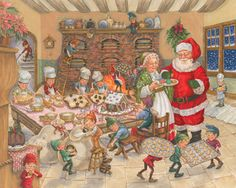 921f61e6e4d8af Santa's Kitchen - 1000pc Jigsaw Puzzle By Vermont Christmas Company (discon)