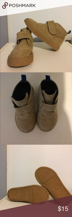 Toddler dress boots Light brown suede boots. Worn 3 times. Clean. Baby Gap Shoes Boots