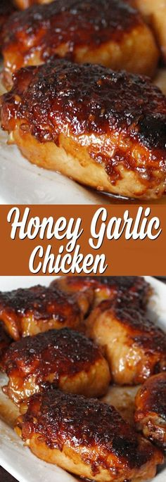 Delicious Honey Garlic Chicken (plus some really tasty sauce!) - Bary's Recipes Delicious Honey Garlic Chicken (plus some really tasty sauce! Food Dishes, Main Dishes, Love Food, Food To Make, Food And Drink, Cooking Recipes, Healthy Recipes, Delicious Recipes, Crockpot Recipes