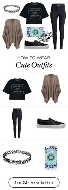 """""""Rock&Roll Outfit"""" by the-tumblr-girl on Polyvore featuring H&M, Oui and Vans"""