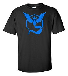 Pokemon Go Team Mystic Black Shirt (Small): Custom Screen Printing Team Mystic Logo Pokemon Shop, Old Pokemon, Mystic Logo, Pokemon Go Team Mystic, Pokemon Merchandise, Pokemon Costumes, Pokemon Charizard, Custom Screen Printing, T Shirt