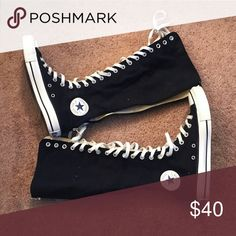 Knee high Converse Never worn Converse Shoes Lace Up Boots