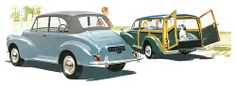 Detail from a Morris Minor 1000 brochure
