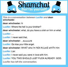 A conversation between dean winchester and Lucifer