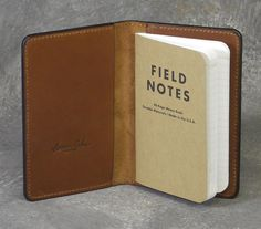 Classic Brown Leather Field Notes Cover by NormCahnLeatherworks