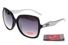 Ray-Ban Jackie Ohh 2085 Black White Frame Gray Lens RB1039