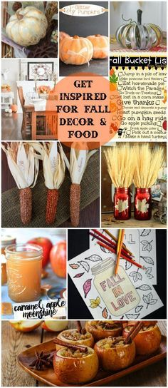 Great ways to get in the mood for Autumn! Here's some great Fall Inspiration for your home and belly.