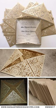 As low as $2.09 affordable pearl white floral laser cut wedding invitations#elegantweddinginvites#invitations#lasercut#weddings