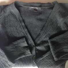 Gray Cable Knit Sweater F21 button up sweater. Size medium, but fits more like a small. Forever 21 Sweaters Cardigans