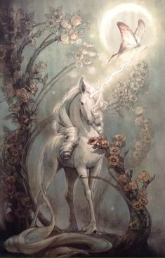 """samantha-sno-white:The Last Unicorn """"The unicorn""""was a marvelous beast, shining with honor, wisdom and strength. Just to see him strengthened the soul. The Unicorn in the Maze Unicorn And Fairies, Unicorn Fantasy, Unicorns And Mermaids, Unicorn Art, White Unicorn, Unicorn Crafts, Unicorn Quotes, Unicorn Makeup, Magical Unicorn"""