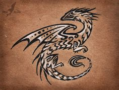 Dark obsidian dragon by AlviaAlcedo on DeviantArt Small Dragon Tattoos, Dragon Tattoo Designs, Magical Creatures, Fantasy Creatures, Adult Face Painting, Dragons, Pen Art, Pastel Art, Dragon Art