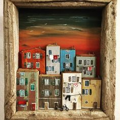 Crowded houses made projects Wooden Art, Wooden Crafts, Diy And Crafts, Arts And Crafts, Crowded House, Woodworking Shows, Driftwood Crafts, Driftwood Frame, Ceramic Houses