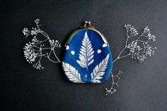 Natura / Purse with cyanotype printing on cotton textile