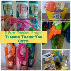 5 Fun, Fabulous and Frugal Teacher Thank-You Gifts: no one will have a thank you gift like yours! These are terrific ideas that will make your child's teacher feel so special at the end of the year. And you will love them because you can stay within your budget but still give a lovely, thoughtful present!