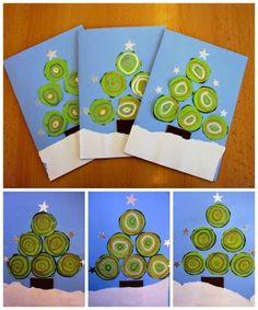 Tapa álbum escolar árbol de navidad