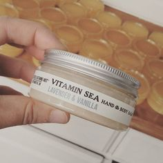 Fresh out of the pot, a batch of our multi-tasking all natural, Lavender & Vanilla hand and body balm. Use as intensive vitamin-packed moisturising treatment, makeup primer or tattoo salve! #naturalbeauty #skincare #crueltyfree #vegan #makeup #tattooaftercare