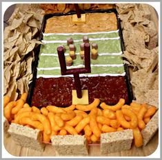 Ready for some football? Superbowl Party Food Idea {love}.  We had a blast! making this.  thankfully I had Heathers engineering skills.