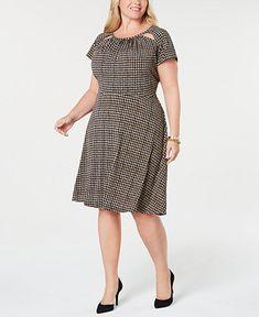e66571a7d4a Michael Kors Plus Size Cutout A-Line Dress - Dresses - Plus Sizes - Macy s