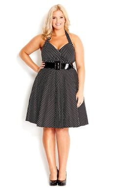 City Chic - SPOT SIREN DRESS - Women's plus size fashion #citychic #citychiconline #newarrivals #plussize