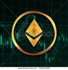Ethereum logo digital cryptocurrency