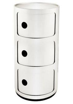 Aufbewahrungsmöbel Componibili, 3 Elemente - Weiß von Kartell finden Sie bei Made In Design, Ihrem Online Shop für Designermöbel, Leuchten und Dekoration.