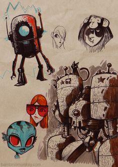 Scketchbook 01 by Maroto bambinomonkey, via Behance