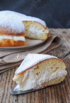 Torta brioche fiocco di neve ricetta facile vickyart arte in cucina